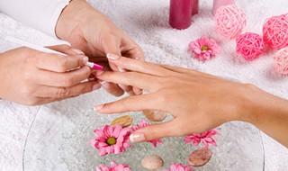 manucure treatment at the spa salon